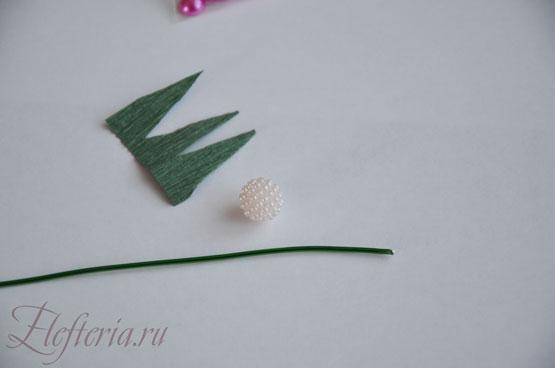 стебель для розы из конфет