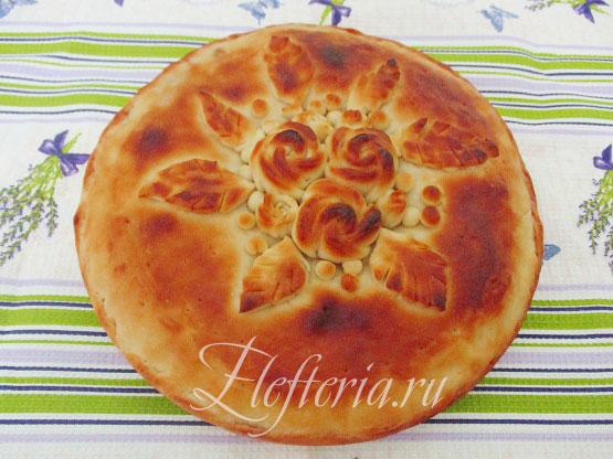 рецепт постного пирога с вишней с пошаговыми фото