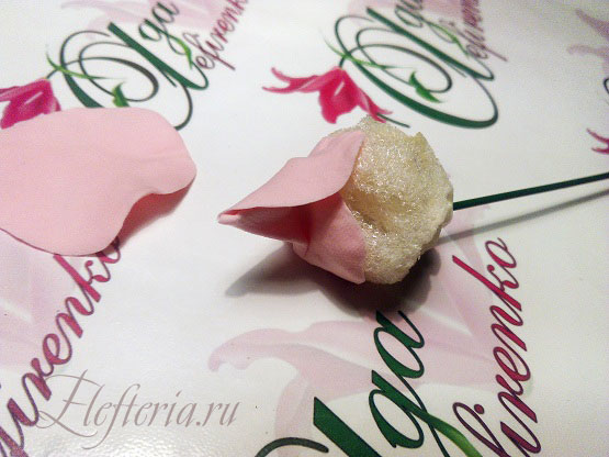 лепестки для розы из полимерной глины