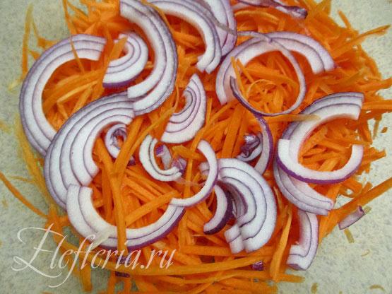 Овощи для минтая в духовке