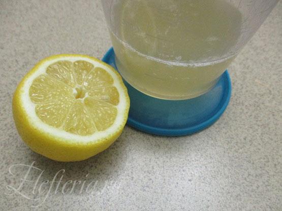 лимонный сок для постного майонеза