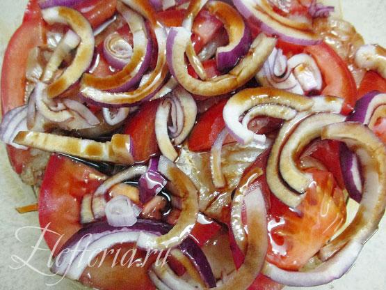 маринад для минтая с овощами в духовке