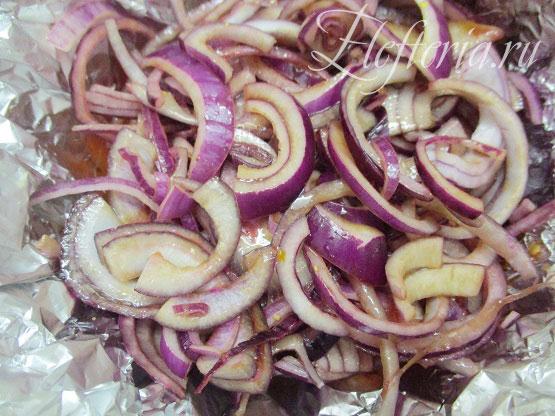 овощи для диетической курицы в духовке