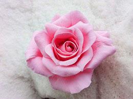 как сделать розу из полимерной глины