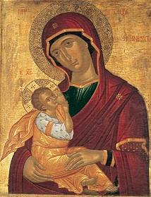 Молитвы о детях перед иконой Млекопитательница