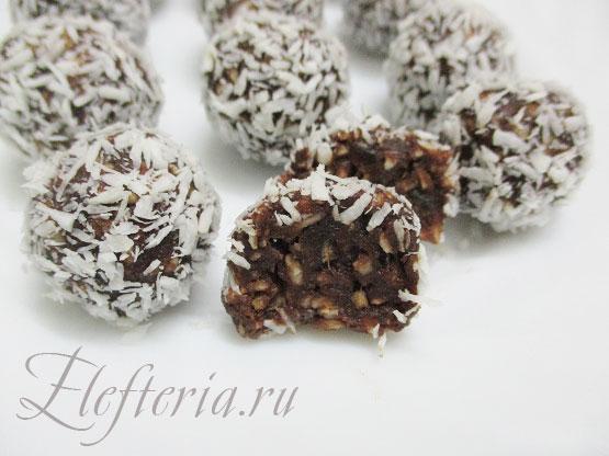 рецепт конфет из фиников и кокосовой стружки с пошаговыми фото