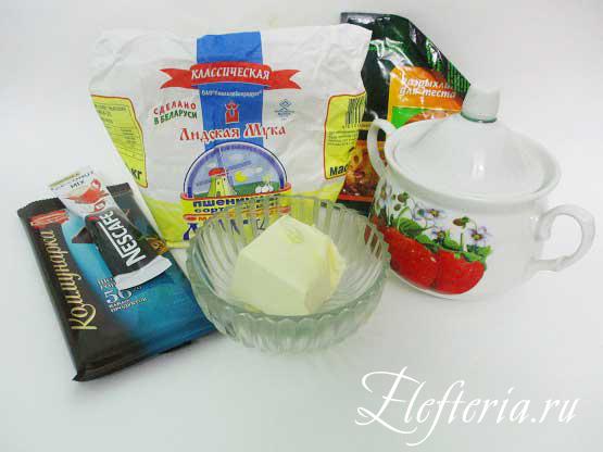 продукты для шоколадного постного печенья
