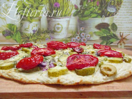 режем диетическую пиццу для похудения