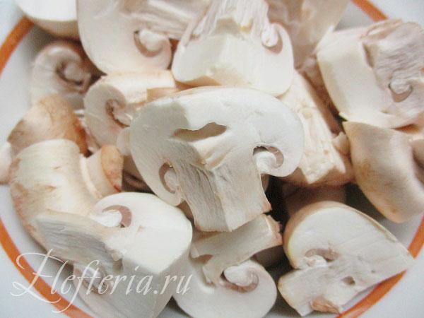 грибы шампиньоны для постных щей