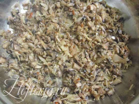 шампиньоны для риса с капустой