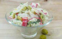 постный салат с крабовыми палочками рецепт с пошаговыми фото