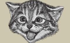 Кот - серый лоб, козел да баран
