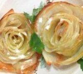Розы из картофеля в духовке. Рецепт бабушки Гали