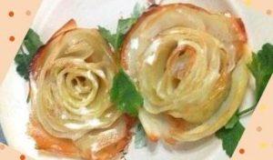 роза из картофеля в духовке рецепт с пошаговыми фото
